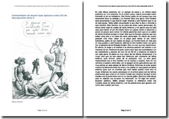 Commentaire d'un dessin de Juan (épreuve orale LV3 du baccalauréat série S)