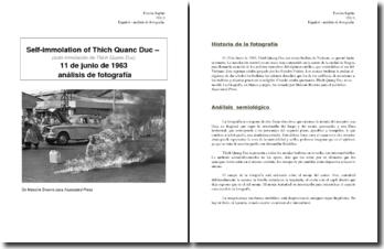 Auto inmolación de Thich Quanc Duc: análisis de fotografia