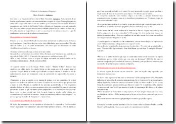 Mario Benedetti, Andamios, Fragmento: comentario