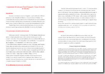 Edward Rosset, Emigrantes, Cruzar el estrecho de Gibraltar: comentario