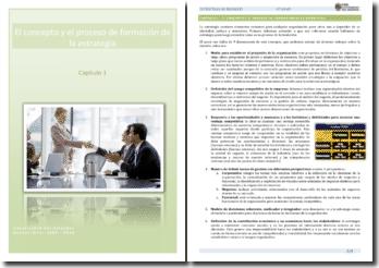 El concepto y el proceso de formación de la estrategia