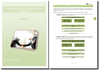 Un proceso formal de planificación estratégica
