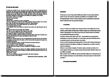 Octavio Paz, Arenas movedizas, El ramo de ojos azules: comentario