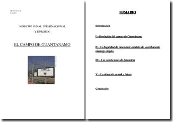 El campo de Guantánamo