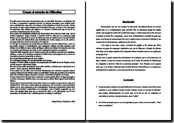 Edgard Rosset, Emigrantes, Cruzar el estrecho de Gibraltar: comentario