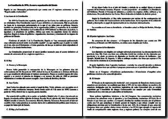 La Constitución de 1978 y la nueva organización del Estado