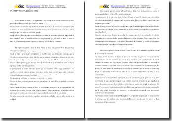 Juan José Millas, Primavera de luto, El cleptómano: comentario