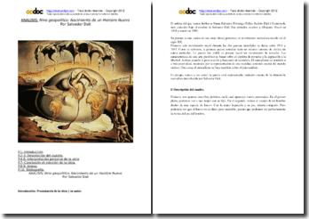 Salvador Dalí, Niño geopolítico mirando el nacimiento del hombre nuevo: análisis