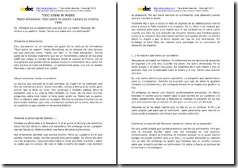 Pedro Almodóvar, Todo sobre mi madre: análisis