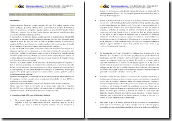 Domingo Faustino Sarmiento, Facundo, capítulo 1: Análisis