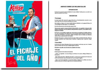 Anuncio con el futbolista Iniesta: Kalise, helados ke ilusionan