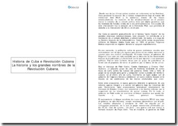 La historia y los grandes nombres de la Revolución Cubana