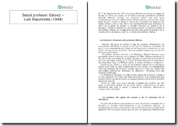 Salud profesor Gálvez - Luis Sepulveda (1998)