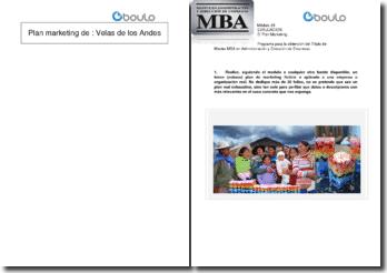 Plan marketing de « Velas de los Andes »
