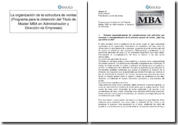 Previsiones y cuotas de ventas (Programa para la obtención del Título de Master MBA en Administración y Dirección de Empresas)
