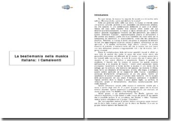 La beatlemania nella musica italiana: i Camaleonti