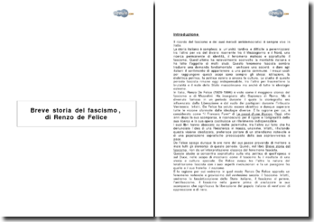 Breve storia del fascismo, di Renzo de Felice