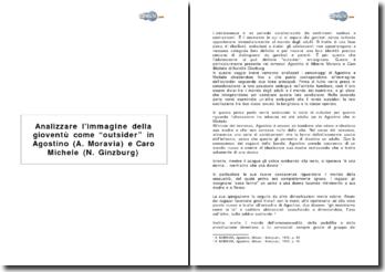 Analizzare l'immagine della gioventù come outsider in Agostino (A. Moravia) e Caro Michele (N. Ginzburg)