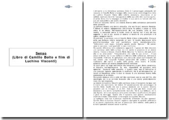 Senso (Libro di Camillo Boito e film di Luchino Visconti)