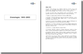 Cronologia: 1943-2003