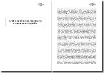 Penisola Arabica - Geografia umana ed economica