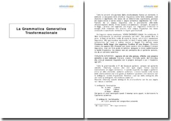 La Grammatica Generativa Trasformazionale