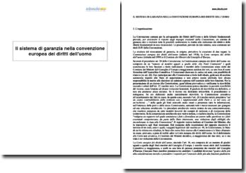 Il sistema di garanzia nella convenzione europea dei diritti dell'uomo