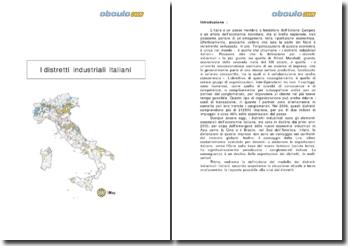 I distretti industriali italiani