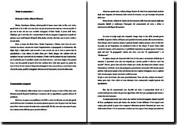 Alberto Moravia, Feste per i furbi : commentaire composé