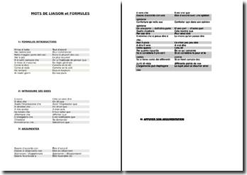 Mots de liaison et expressions utiles en italien