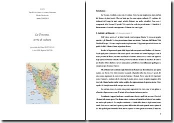 La Toscana, terra di cultura