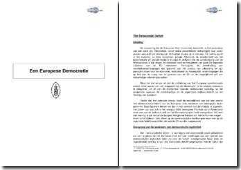 Een Europese Democratie - legitimiteit, mogelijke oplossing
