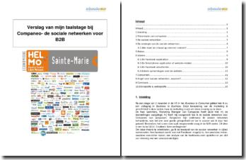 Verslag van mijn taalstage bij Companeo - de sociale netwerken voor B2B