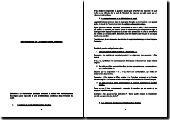 Méthodologie de la dissertation juridique