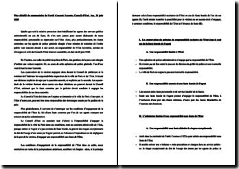 Plan détaillé de commentaire de l'arrêt Consorts Lecomte, Conseil d'Etat, Ass., 24 juin 1949