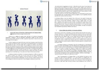 Lecture de l'oeuvre d'Yves Klein, Anthropométrie de l'époque bleue, 1960