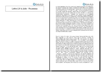 Lettre LIV à Julie - Rousseau
