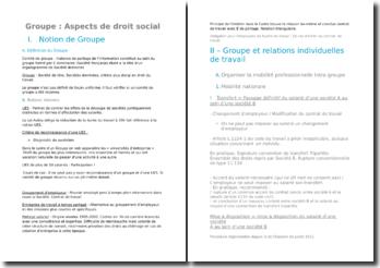 L'aspect social des restructurations de groupe