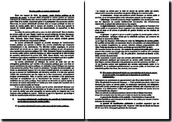 Service public et contrat administratif