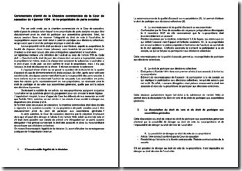 Commentaire d'arrêt de la Chambre commerciale de la Cour de cassation du 4 janvier 1994 : le nu-propriétaire de parts sociales
