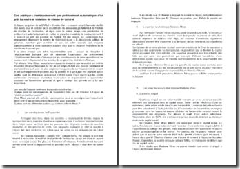 Cas pratique : remboursement par prélèvement automatique d'un prêt bancaire et violation de clause de contrat