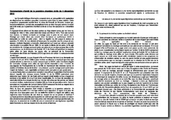 Commentaire d'arrêt de la première chambre civile du 4 décembre 2013 : mariage entre alliés en ligne directe