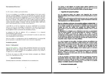 Introduction au droit administratif des biens et sources