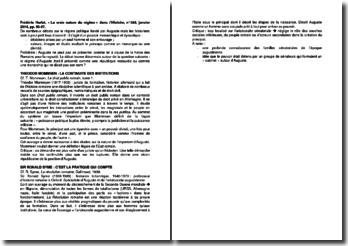 La vraie nature du régime - Frédéric Hurlet, dans l'Histoire, n 395, janvier 2014, pp. 56-57