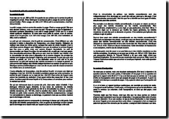 Le contrat de prêt et le contrat d'assignation en Suisse