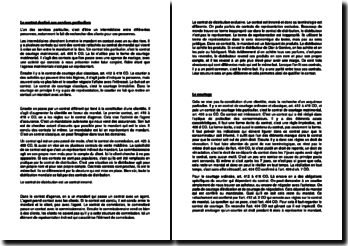 Le contrat destiné aux services particuliers en droit suisse