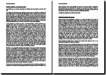 Contrats spéciaux - Le contrat de vente (Suisse)