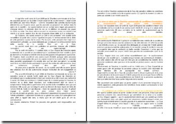 Commentaire d'arrêt de la Chambre commerciale de la Cour de cassation du 3 juin 2008 : la notion d'objet social et de cautionnement