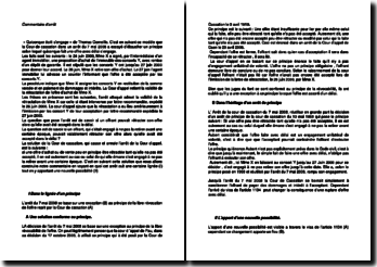 Commentaire d'arrêt de la Cour de cassation du 7 mai 2008 : la promesse de contrat