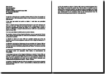 Audience publique du mardi 16 mars 1999 relatif à la constestation de la filiation